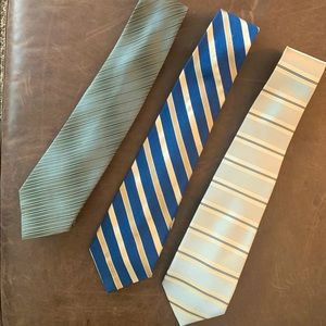 Lot of 3 Men's Tall/Extra Long Silk Ties